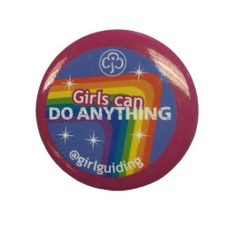 Pride Pin Badges - Girls Can Do Anything