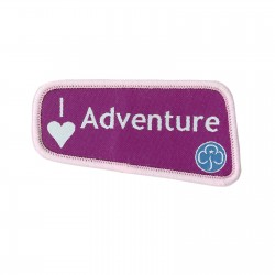 I Love Adventures Badge