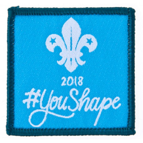 You Shape Scouts Woven Badge 2018