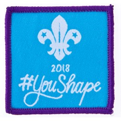 You Shape Adult Woven Badge 2018
