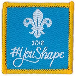 You Shape Beaver Woven Badge 2018