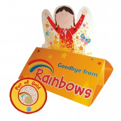 Rainbow Pot of Gold Badge and Card (5 Pack)