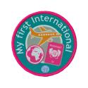 My first International woven badge
