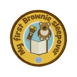 My first Brownie sleepover woven badge