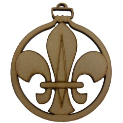 Fleur de Lis Christmas Tree Bauble Single