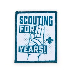Scouts 111 Birthday Fun Badge - White