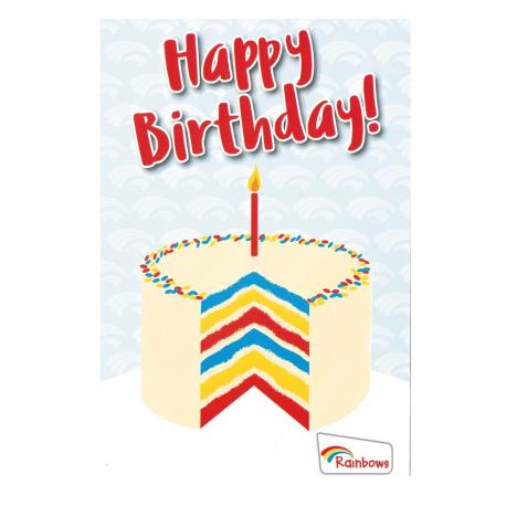 Rainbows birthday cards - cake (6pk)