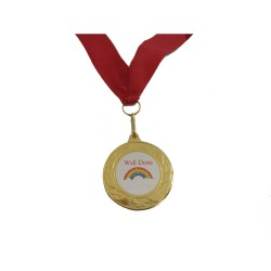 Well Done Rainbows Medal