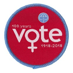 Women's Vote 100 Woven Badge