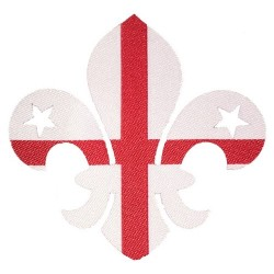 England Fleur de Lis Iron On Badge