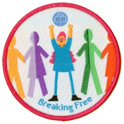Breaking Free woven badge