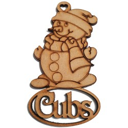 Cubs Snowman Decoration