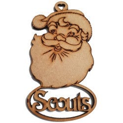 Scouts Santa Single Decoration