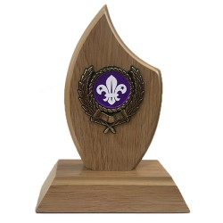 Lightwood Sail Plaque with Scout Logo