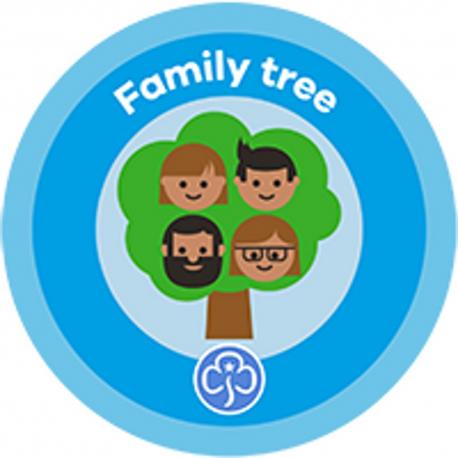 NEW Rainbow Family Tree Interest Badge