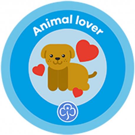 New Rainbow Animal Lover Interest Badge
