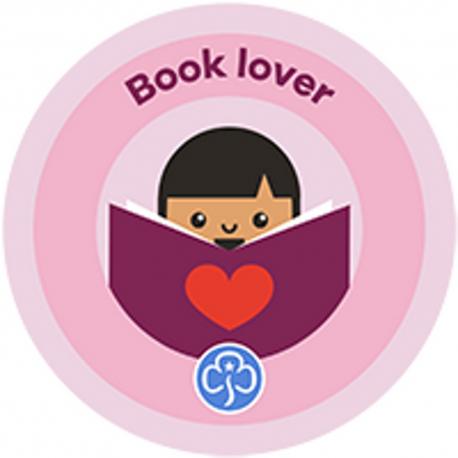 NEW Rainbow Book Lover Interest Badge