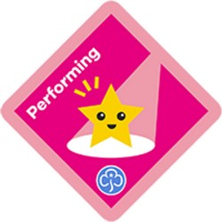 NEW Brownie Performing Interest Badge