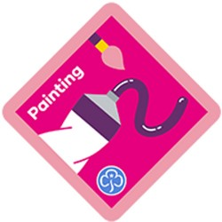 NEW Brownie Painting Interest Badge