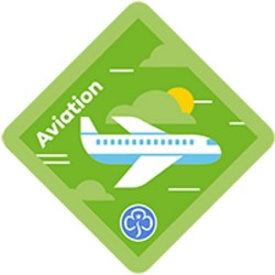 NEW Brownie Aviation Interest Badge