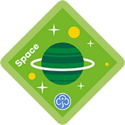 NEW Brownie Space Interest Badge