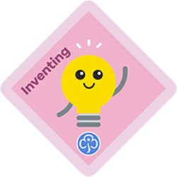 NEW Brownie Inventing Interest Badge