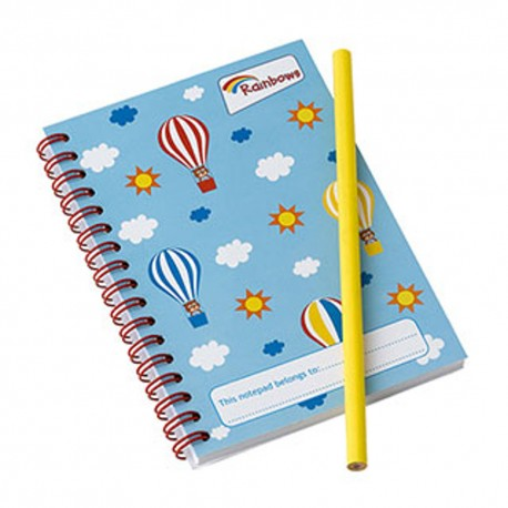 Rainbow Notepad and pencil set