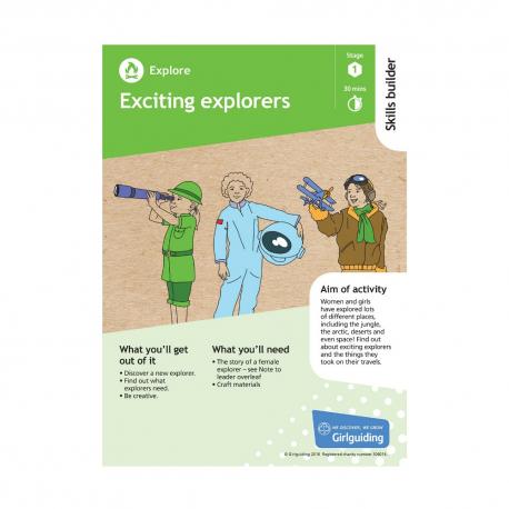 Skills builder resource - Have Adventures - Explore - Stage 1