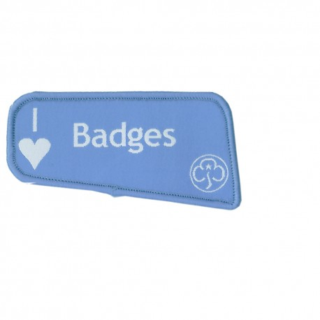 I Love Badges Woven Badge