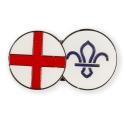 England FDL Fleur de Lis Dual Pin Badge