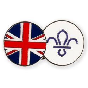 GB FDL Fleur de Lis Dual Pin Badge