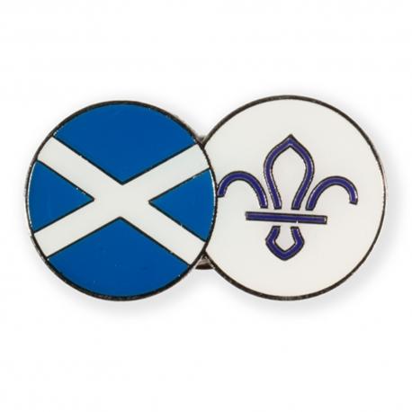 Scotland FDL Fleur de Lis Dual Pin Badge