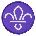 FDL Fleur de Lis Woven Fun Badge - PURPLE