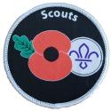 Remembrance Poppy Fleur De Lis Woven Badge