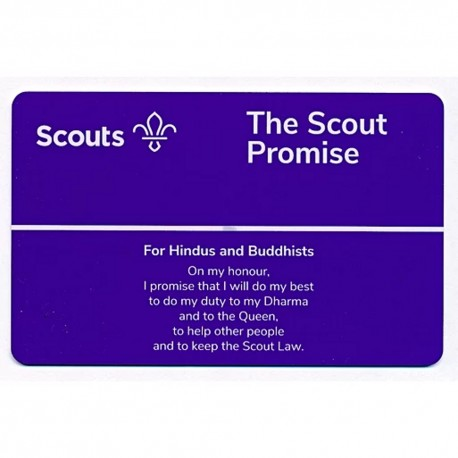 Scout Promise Card - Hindus and Buddhists