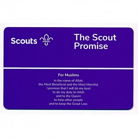 Scout Promise Card - Muslims