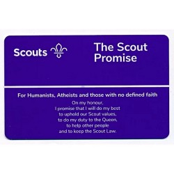 Scout Promise Card - Humanists, Atheists and Non-Religious
