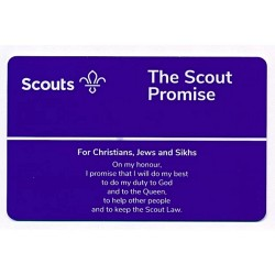 Scout Promise Card - Christians, Jews and Sikhs