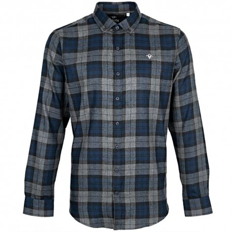 FDL Fleur de Lis Brushed Check Casual Shirt