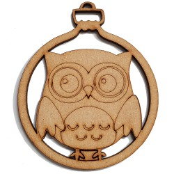 8 Pack Owl Bauble Decoration