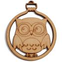 8 Pack Owl Bauble Decoration
