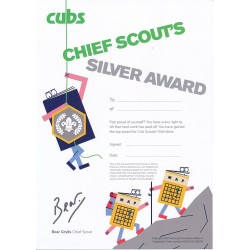 Chief Scout's Silver Award Certificate - Pack of 10