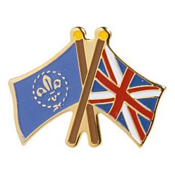 Fleur de Lis/Union Flag Pin Badge
