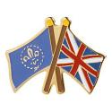 Fleur de Lis/Union Jack Pin Badge