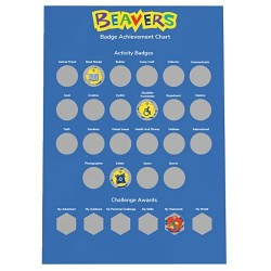 Beavers A3 Scratch Off Badge Poster - Available Soon