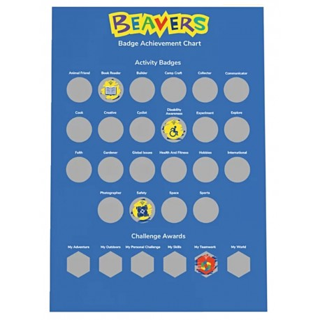 Beavers A3 Scratch Off Badge Poster