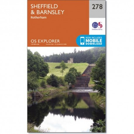 OS Explorer Map Sheffield and Barnsley