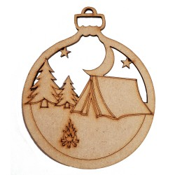 8 Pack Campsite Christmas Tree Decoration