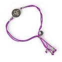 FDL Fleur de Lis Disc and Cord Bracelet