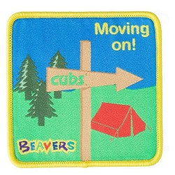 Beaver Moving On Fun Badge